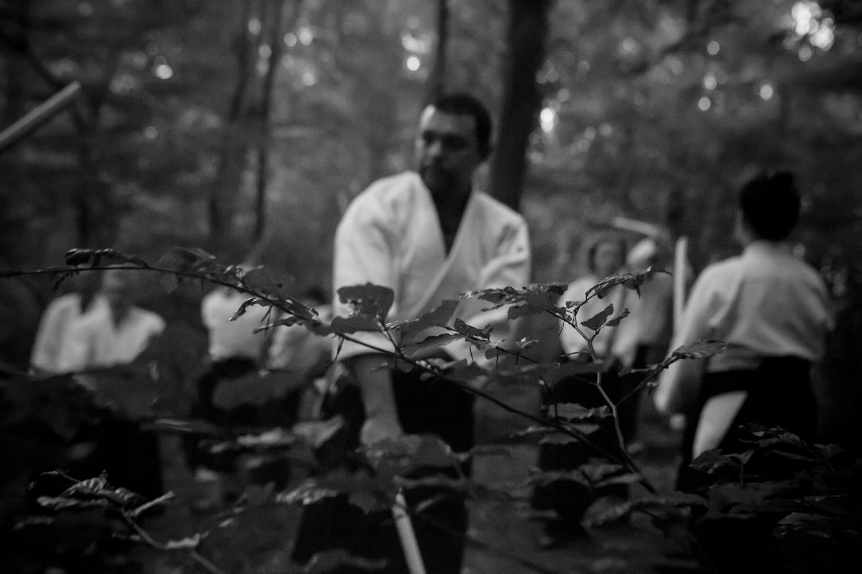 Aikido dans la fôret par le graphiste Arnaud Beelen