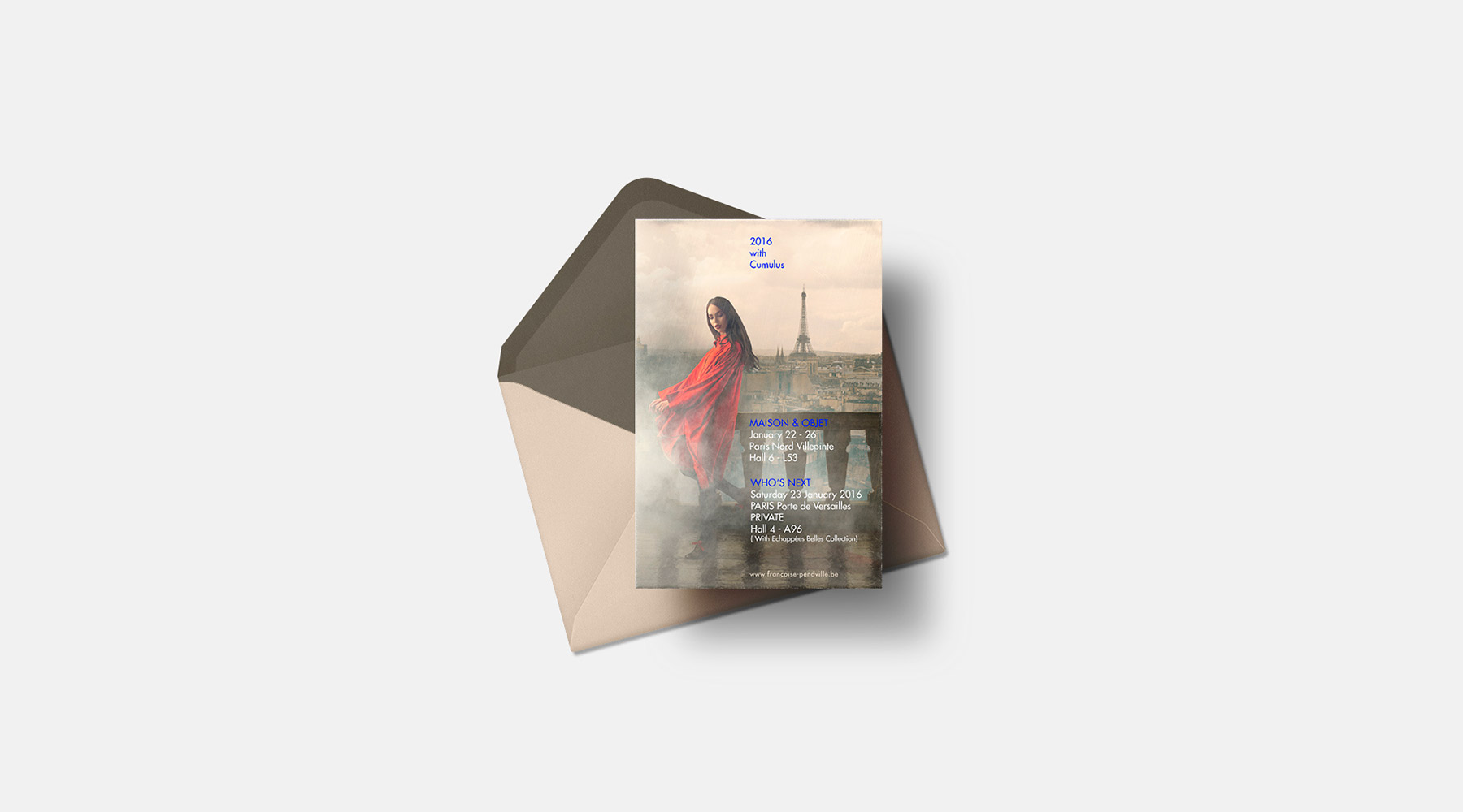 Invitation carte postale Cumulus
