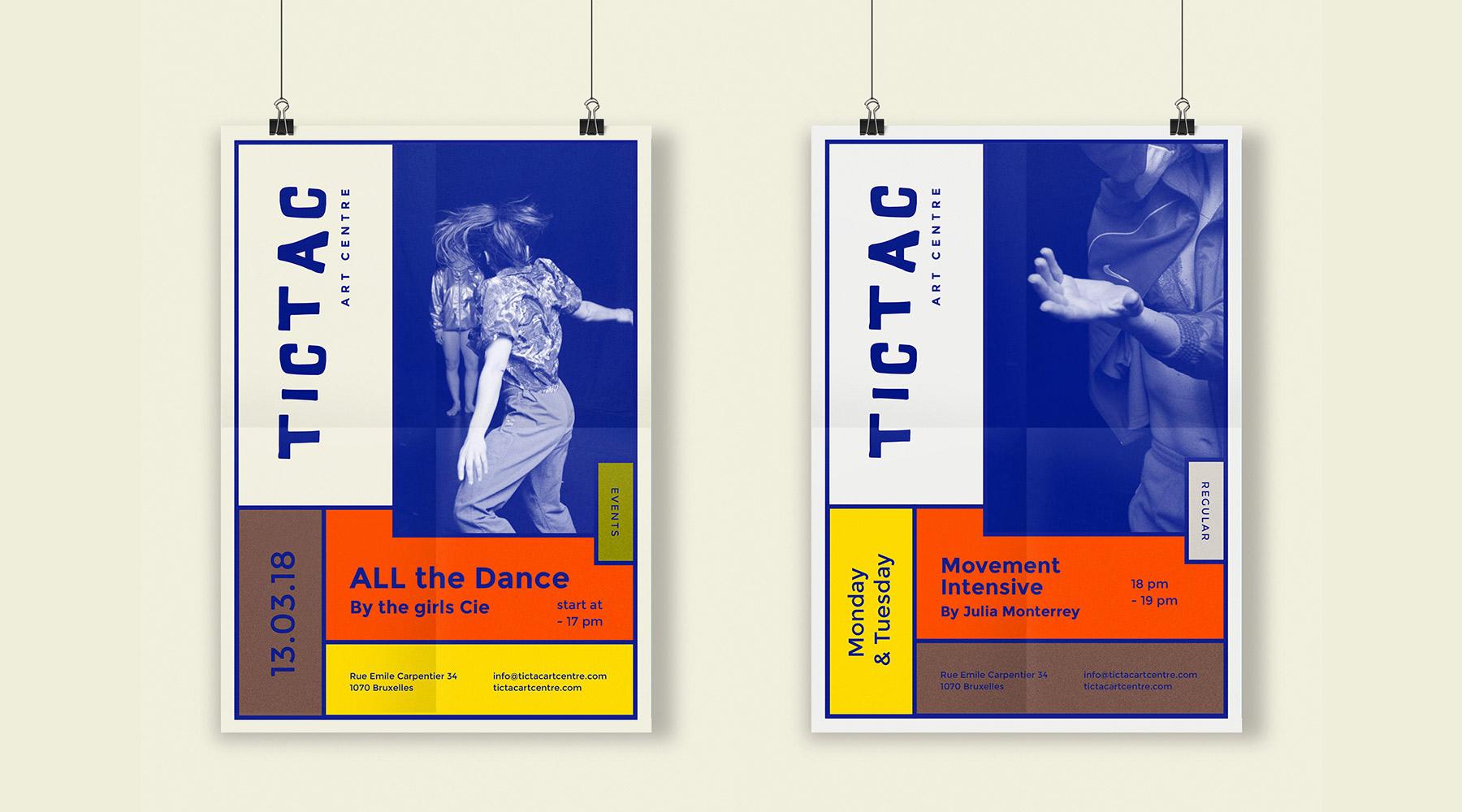 posters affiches pour Tictac Art Centre