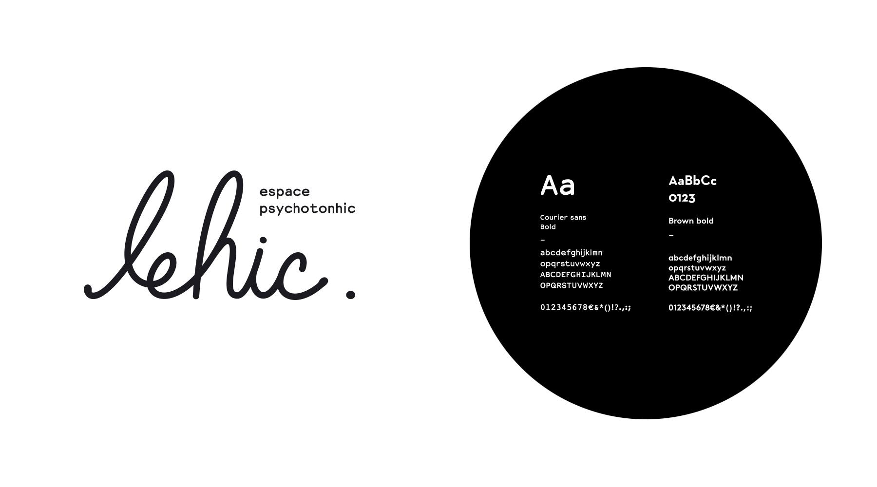 le hic logo typographie
