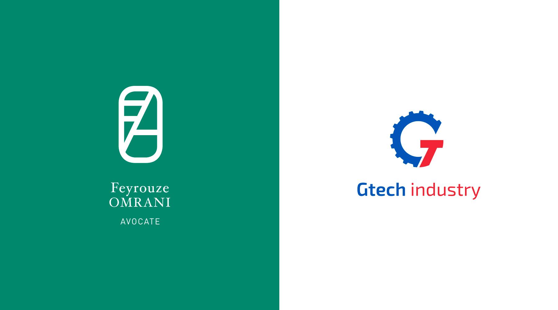 Logo Feyrouze Omrani, Logo Gtech industry.