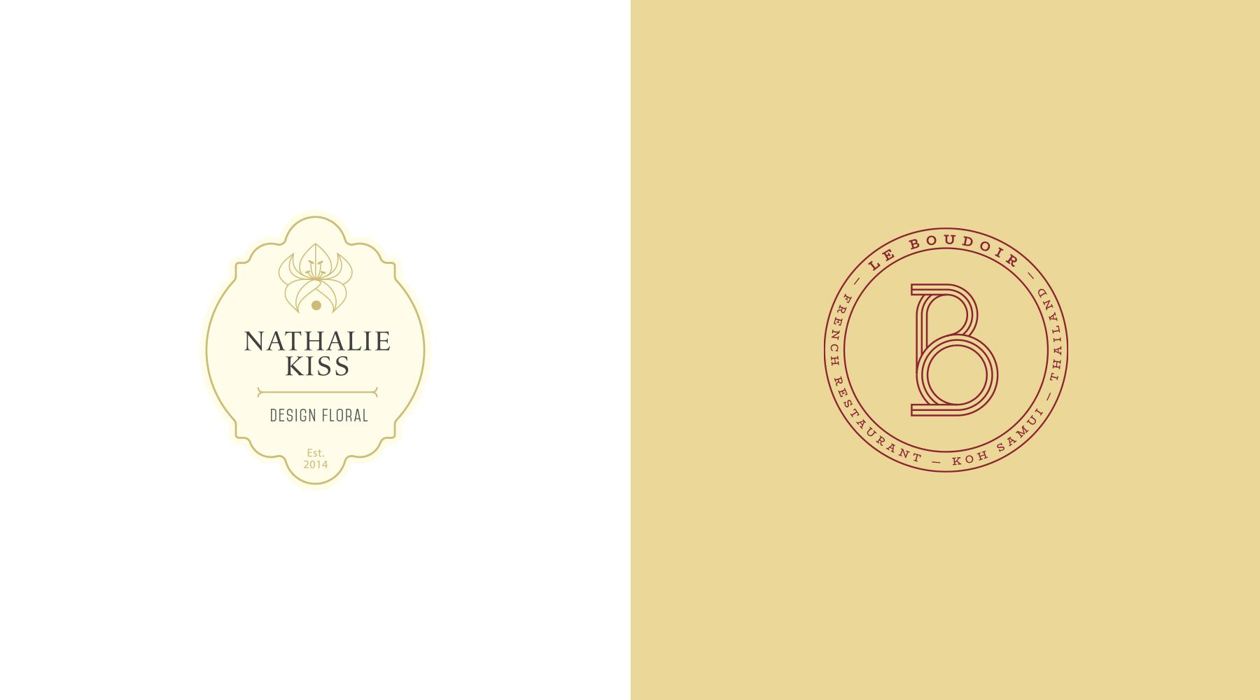 Logo Nathalie Kiss, Logo Le boudoir